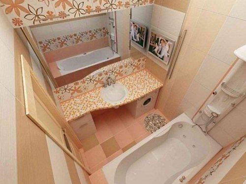 Дизайн маленькой ванной комнаты или банная геометрия.