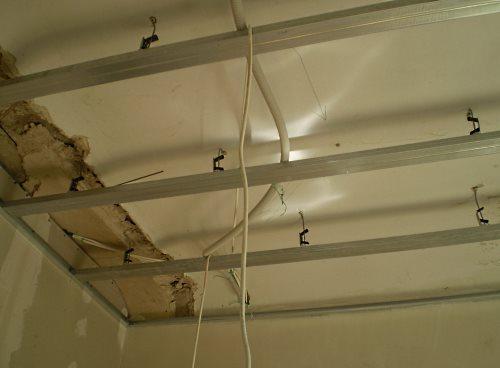 Подвесные потолки из гипсокартона.