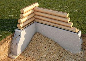 Фундамент для деревянного дома.