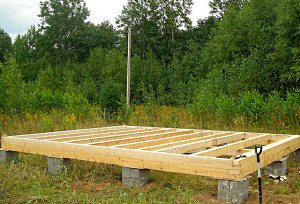 Столбчатый фундамент для деревянного дома.