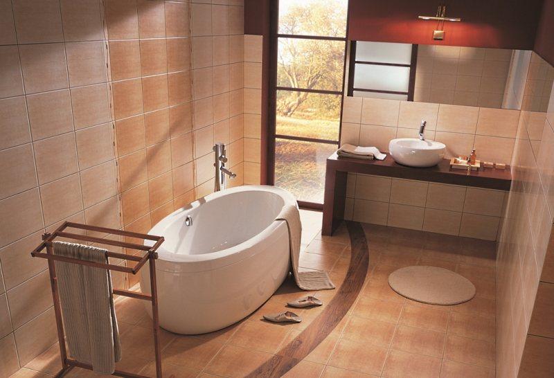 Керамическая плитка для пола ванной комнаты.