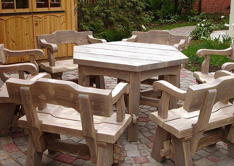 Садовая мебель своими руками.