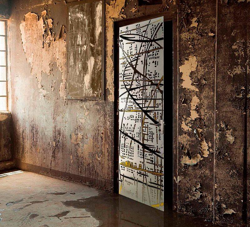 Стеклянные межкомнатные двери.