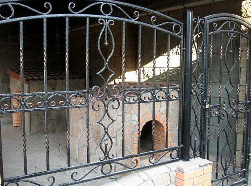 Забор ажурный кованный