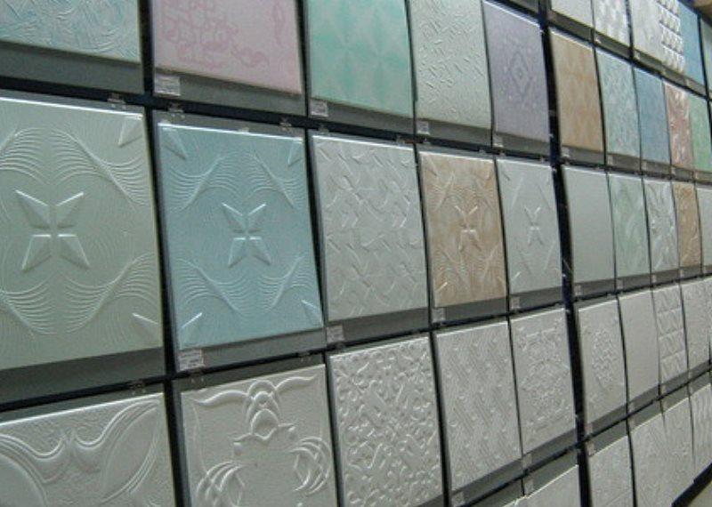 плитки клеевого потолка