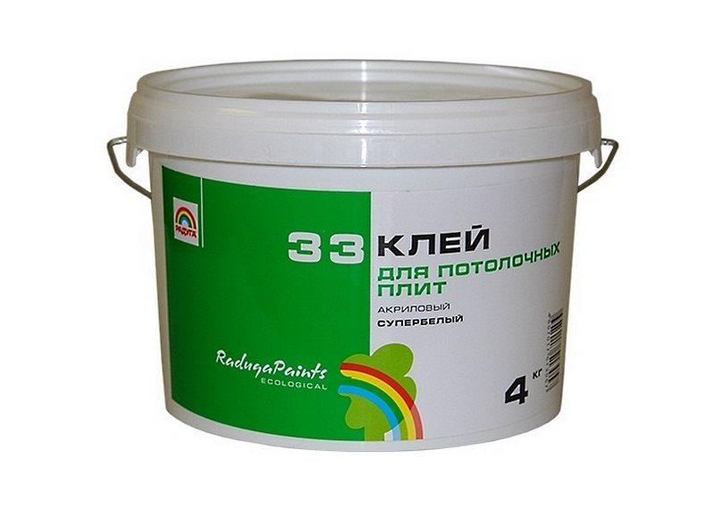 специальный клея для потолочных плит