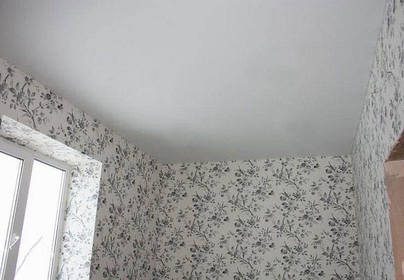 потолок после побелки мелом