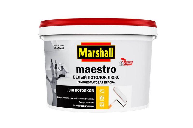 краска Маэстро Люкс белый потолок