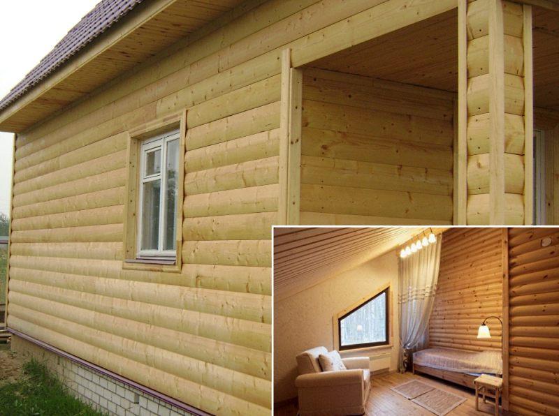 блок-хаус для внешней и внутренне отделки дома