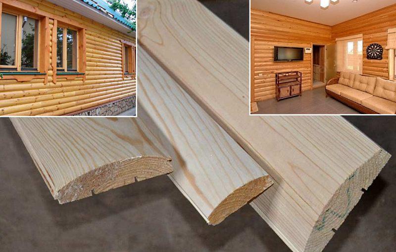 блок-хаус для наружной и внутренней отделки