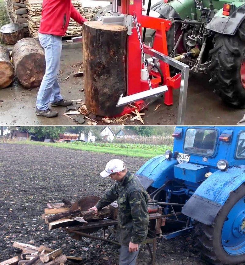 дровоколы с приводом от трактора