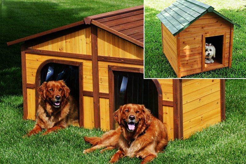 будку для собаки из дерева