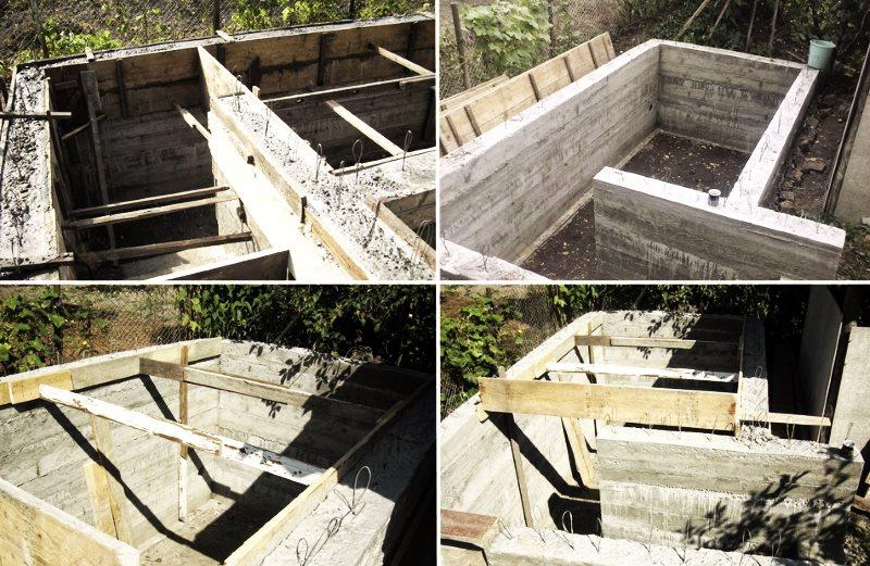 заливка погреба бетоном