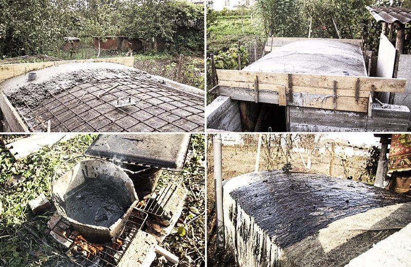 гидроизоляция и возведение сводчатого потолка погреба