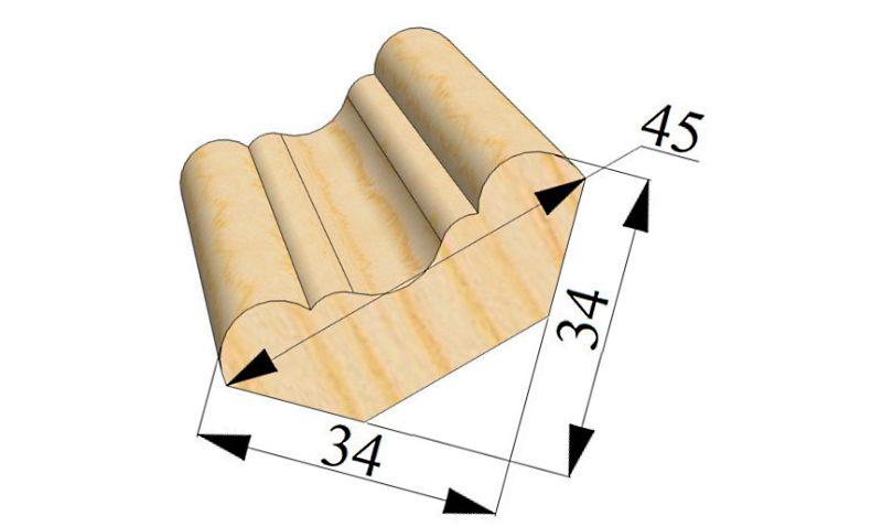 потолочный плинтус шириной 45 мм