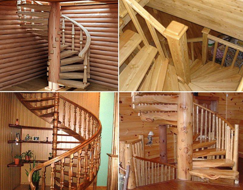 винтовые деревянные лестница на второй этаж своими руками