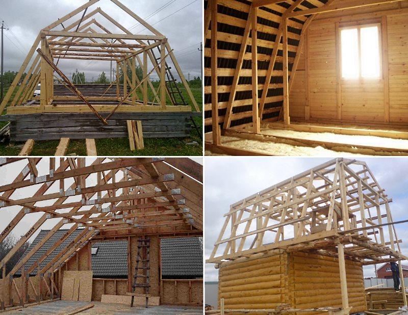 примеры строительства мансард