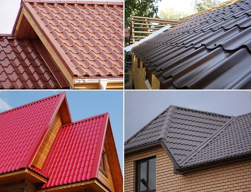 Примеры крыш с металлочерепицей