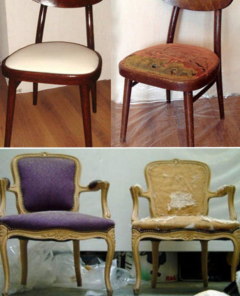 пример перетяжки кресла и стула