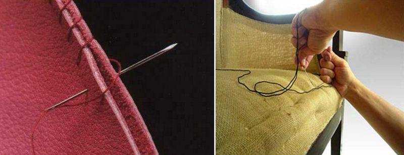 иголки и нитки для перетяжки мебели