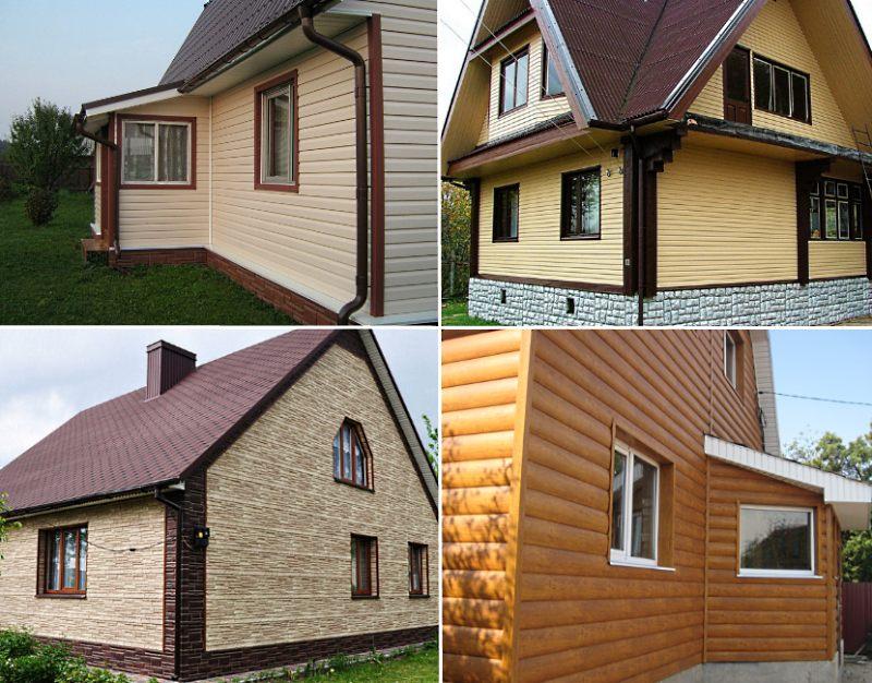 Примеры отделки домов сайдингов