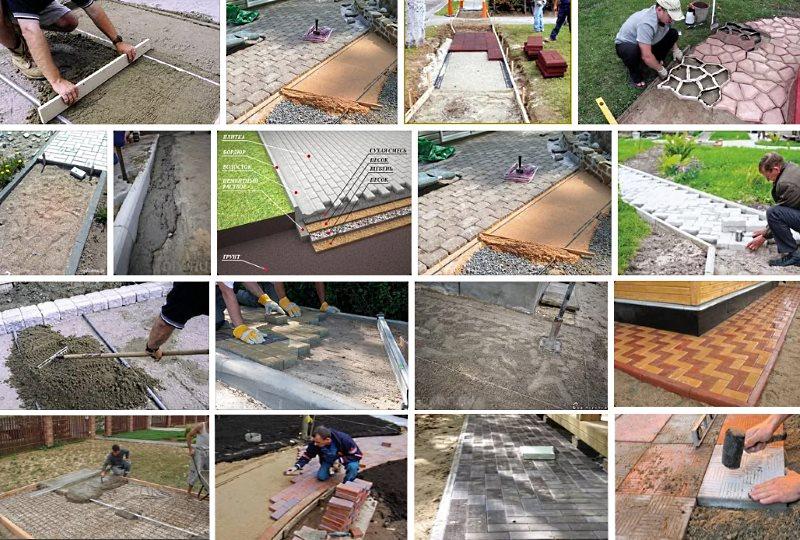 работы по укладке тротуарной плитки своими руками