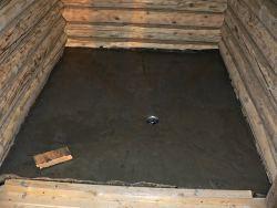 Как сделать пол в бане из бетона