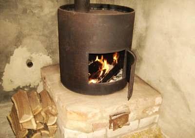 Отопление гаража с помощью печки