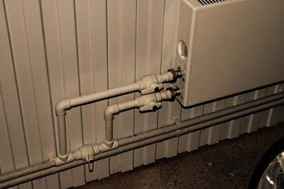 Отопление гаража с помощью воды