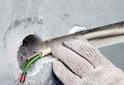 Скрытый способ монтажа электропроводки
