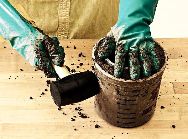 Этапы изготовления цветочного горшка своими руками этап 6