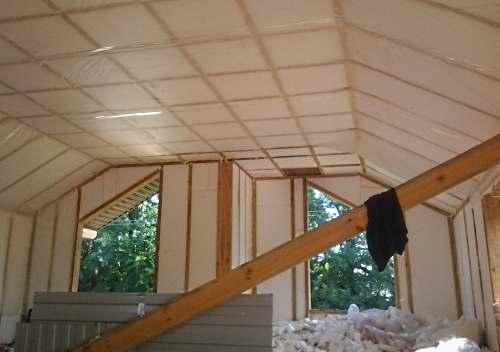 Технология утепления каркасного дома пенопластом изнутри