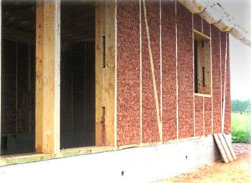 Утепление каркасного дома опилками