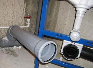 Уклон канализационных труб.