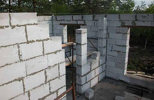 Этап третий - возведению стен