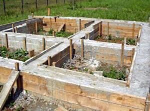 Строительство фундамента для бани своими руками.