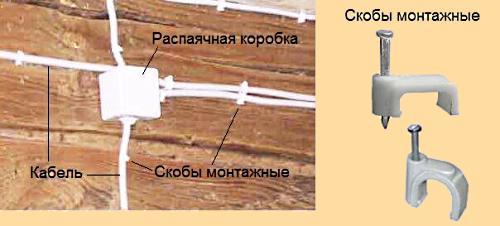 Установка открытой электропроводки