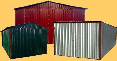 Как построить гараж из профнастила своими руками