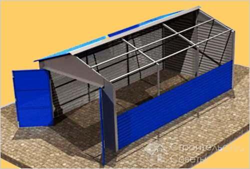 Строим гараж своими руками дешево