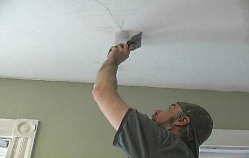 Как заделать трещину на потолке? Способ №2