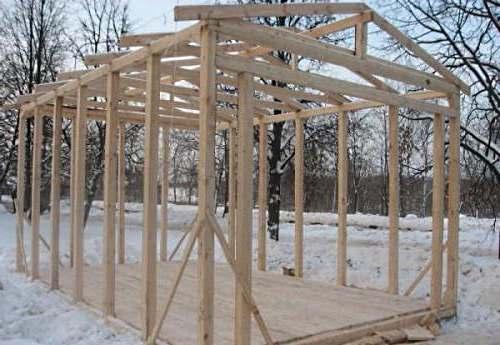 каркасное строительство гаража своими руками