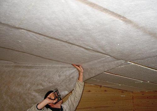 Утепление крыши пенопластом своими руками.