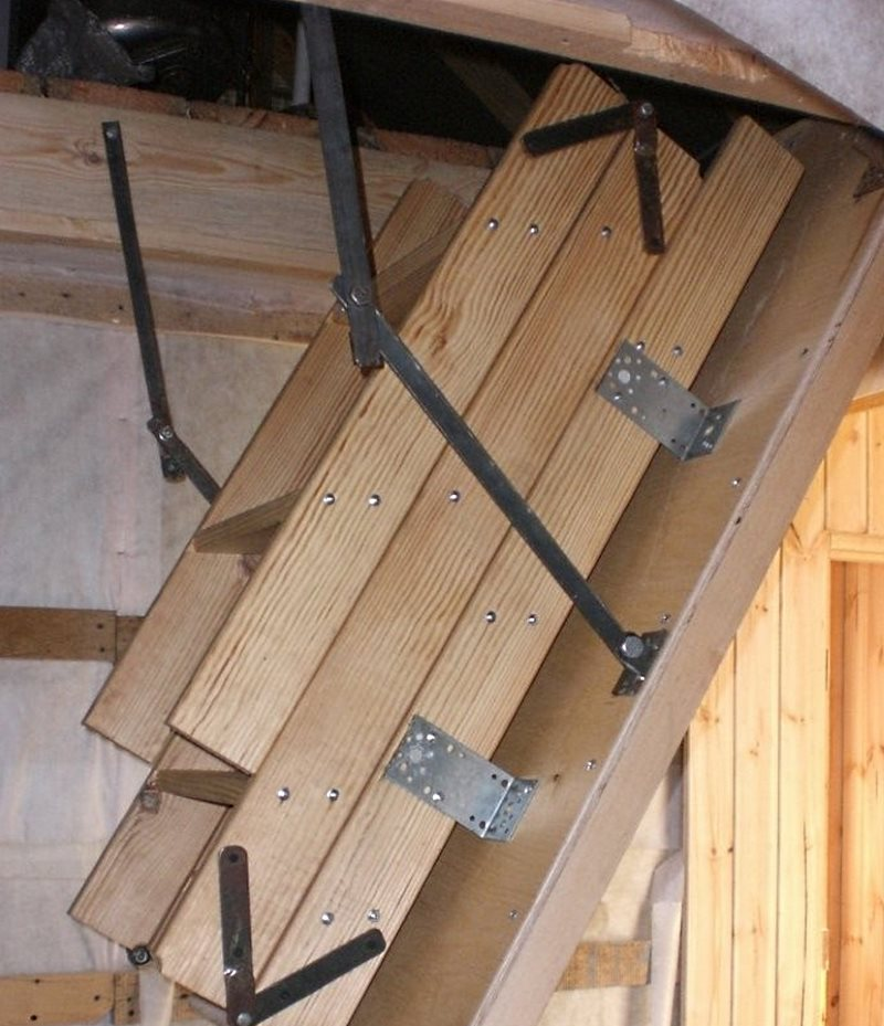 Как сделать чердачную лестницу 519