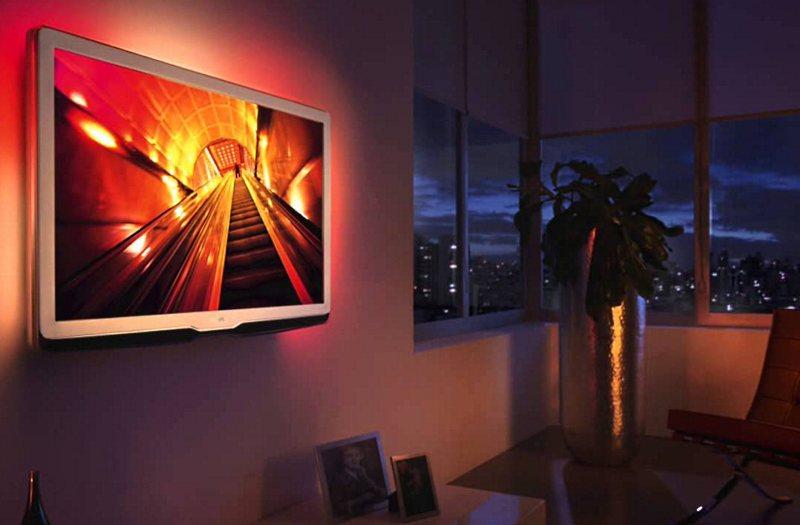 пример правильного расположения телевизора на стене
