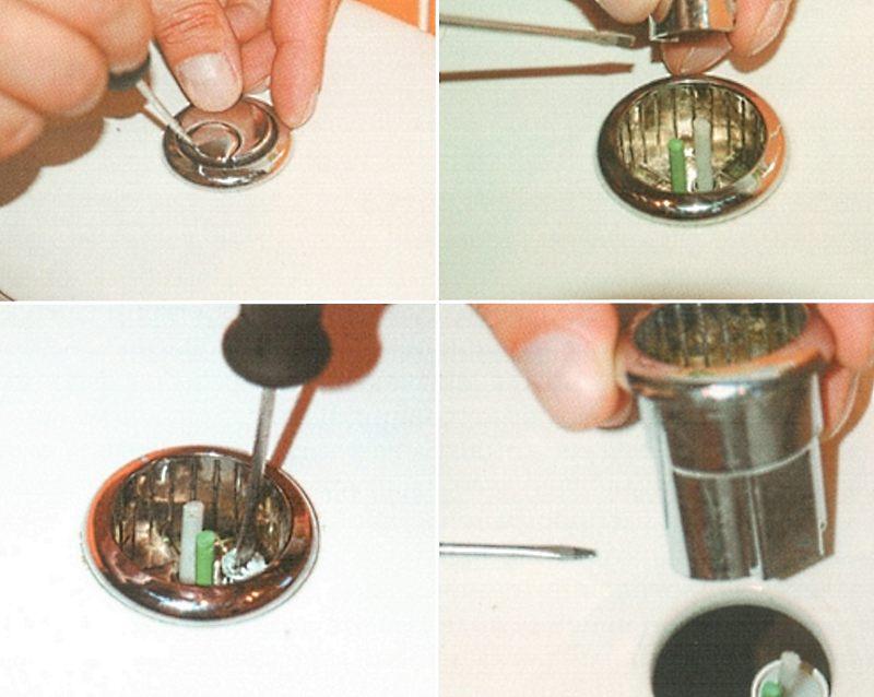 Как снять крышку бачка унитаза с двойной кнопкой