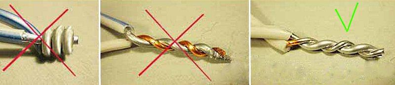 соединение с помощью лудения свинцово-оловянным припоем