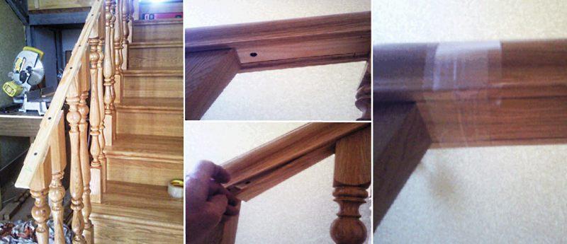 Как установить балясины на деревянную лестницу этап 6
