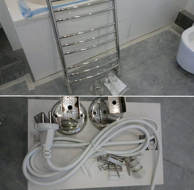 Комплектность электрического полотенцесушителя