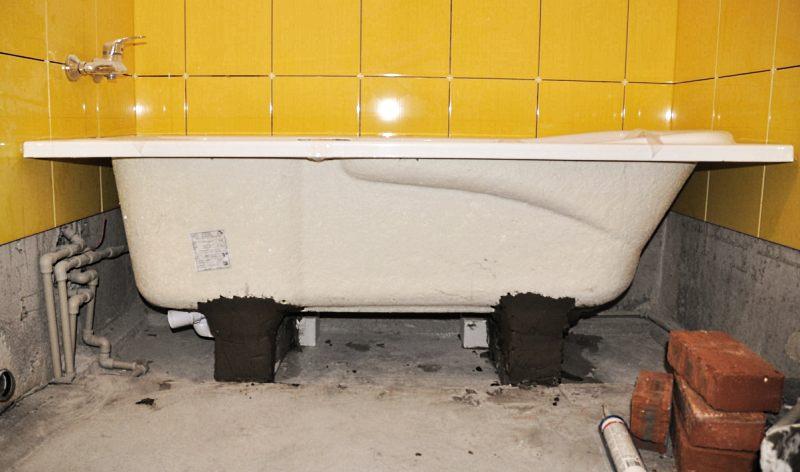 Сколько стоит установка ванны?
