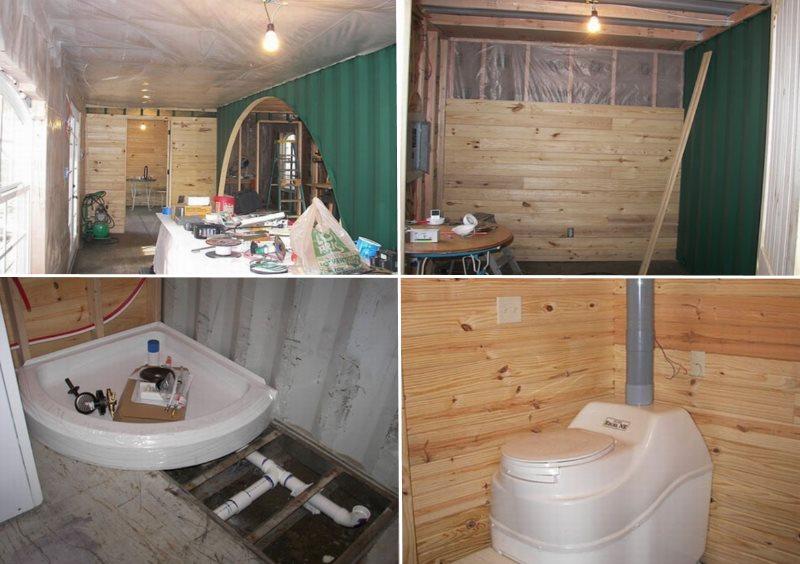отделка помещения, установка сантехники